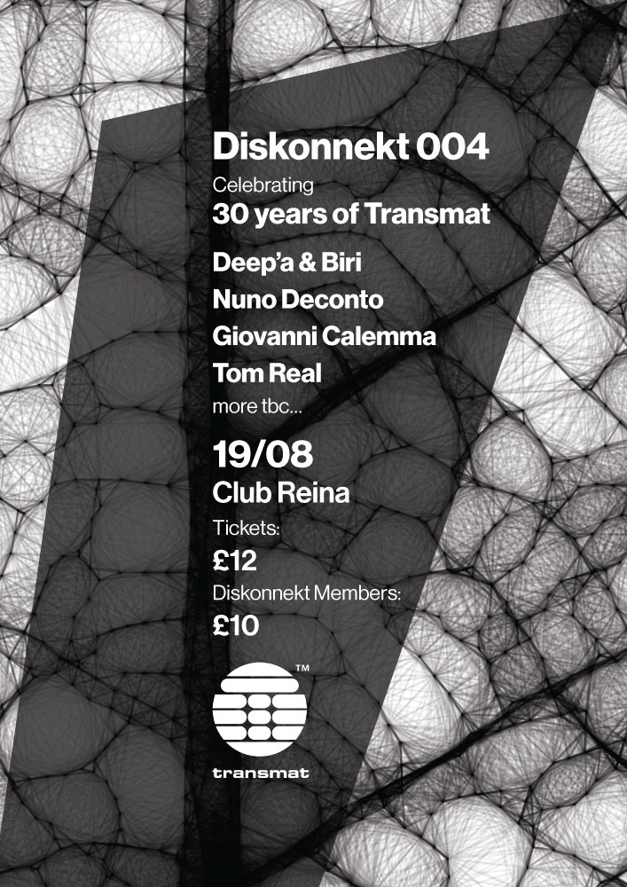 diskonnekt 004 poster and flyer - back