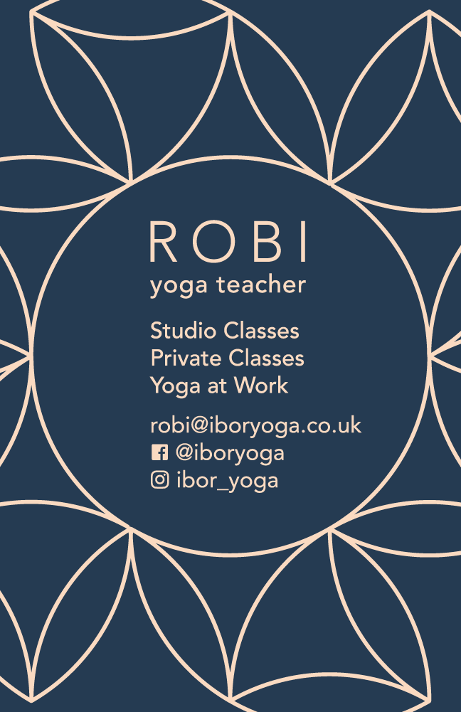 Brand identity for Ibor Yoga, yoga teacher in London, UK