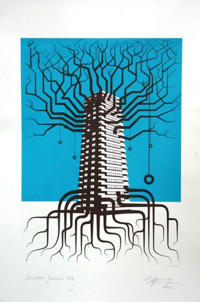 Concrete Jungle - Screen Printed Poster